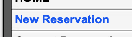 Create a new reservation
