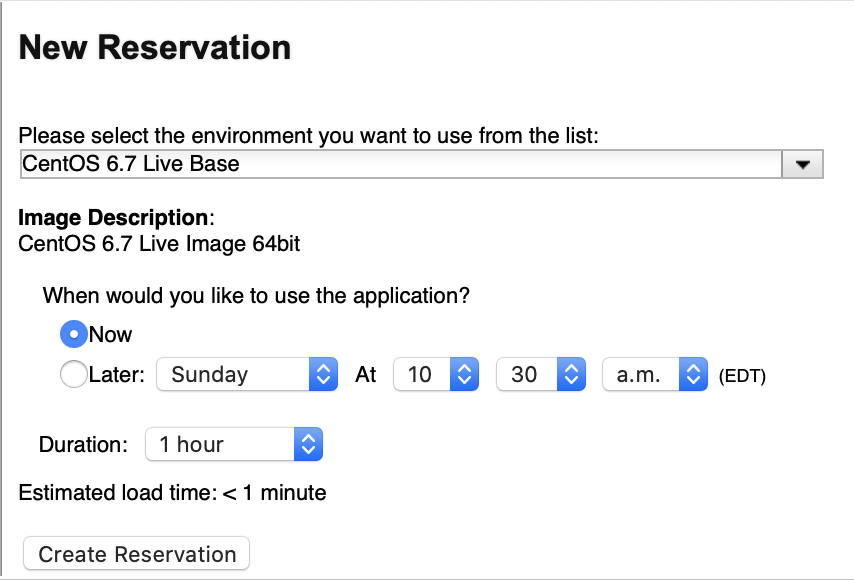 Setup your reservation